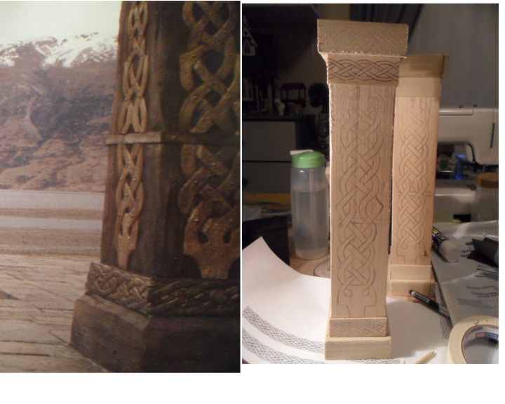 Edoras Pillars WIP #1 by kayanah