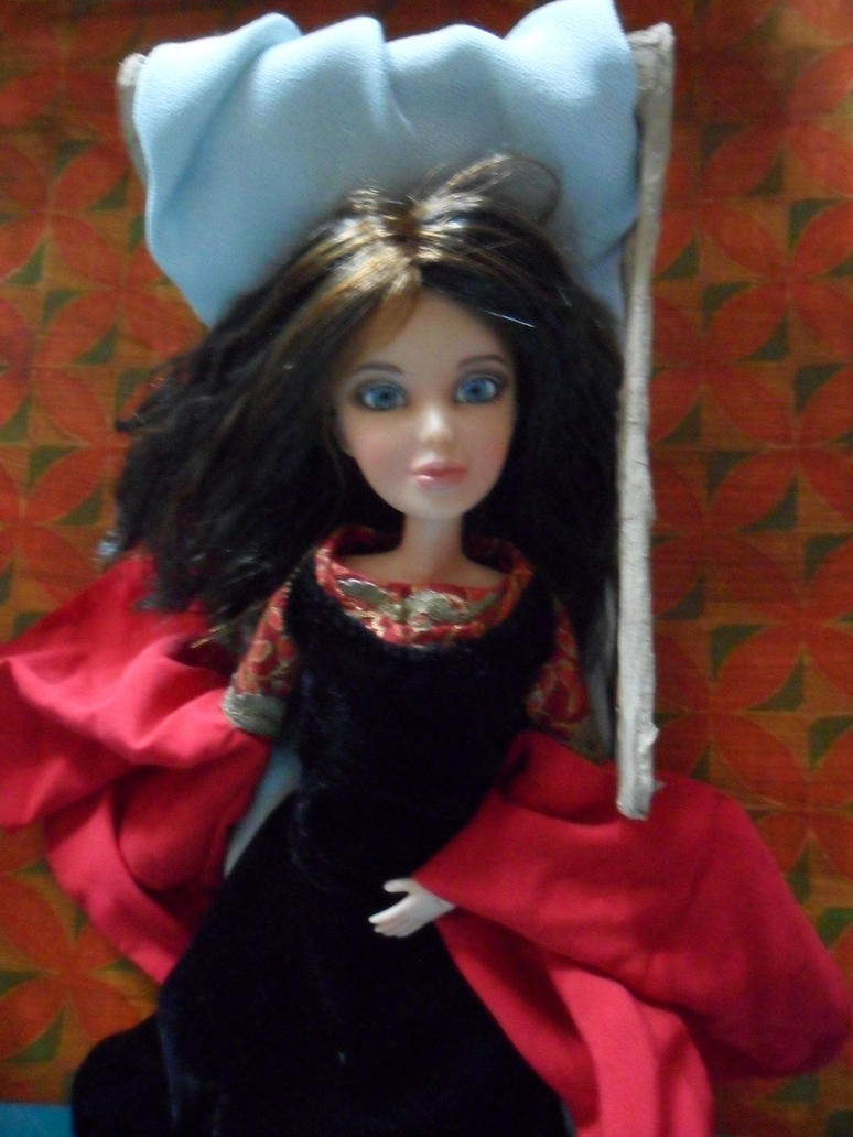 Arwen Blood Red Gown Closeup by kayanah
