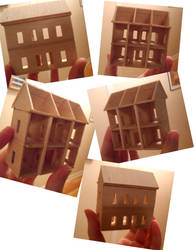 Teeny Tiny Dollhouse: Colonial Wood Version by kayanah