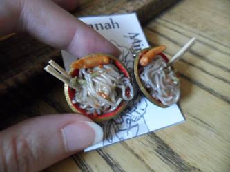 Asian Food Earrings by kayanah