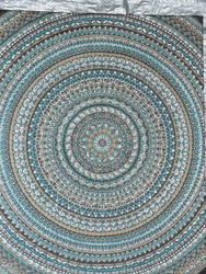 Mandala on Canvas Closeup 1
