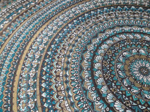Mandala on Canvas Closeup 2