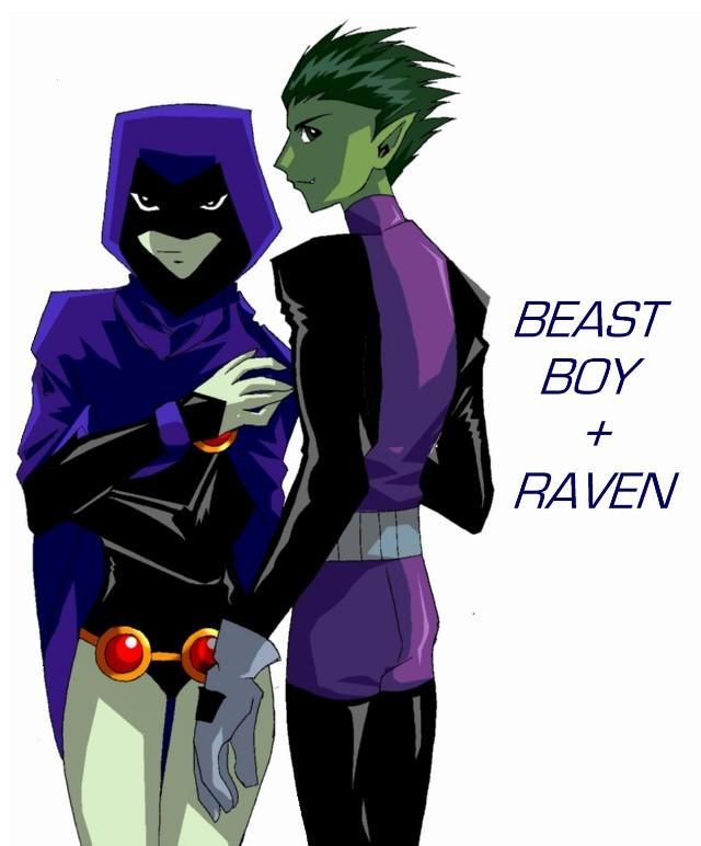 Raven Superhero And Beast Boy Teen tt