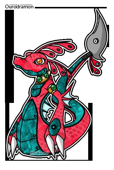 Ourodramon the Sea Dragon Ouroboros by Inakamon