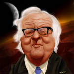 Ray Bradbury by MaximumSpider