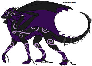 Shadow Ethereal Dragon form by Xalithar-Daskel