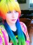 Rainbow locks of hair