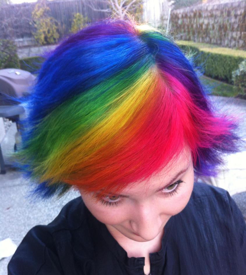 Apologise, short rainbow hair excellent idea