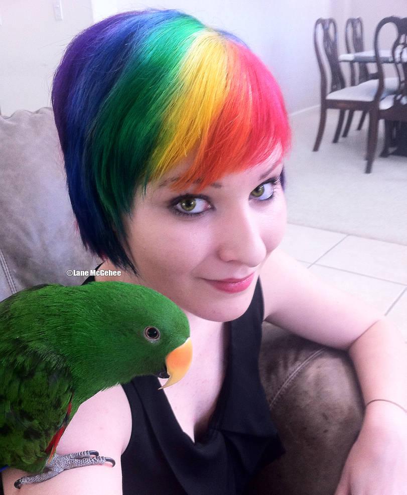 Rainbow hair all day erryday