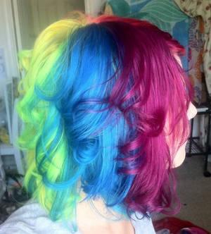 Rainbow hair 3