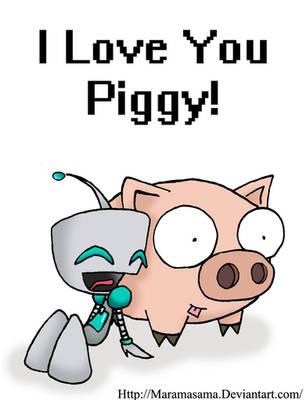 IZ I love you Piggy by Maramasama