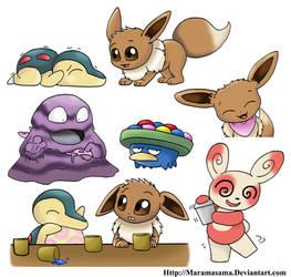 Pokemon mystery dungeon explorer doodels by Maramasama