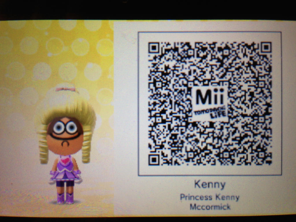 Daisy Mii Qr Code Tomodachi Life: Princess Kenny Qr Code~XD By Sugar-Rush09 On DeviantArt
