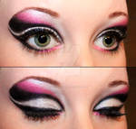 Black and pink eyeshadow