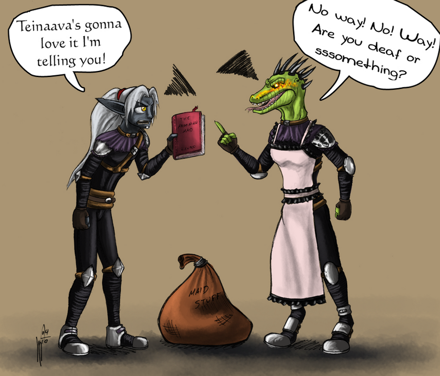 The lusty argonian maid by ~Hndz on deviantART