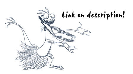 Lizard Hula -animated- by Hndz
