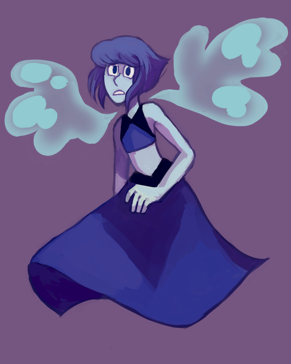 small speedpaint-ish thing of lapis! my fav gem ;__;