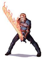 Commission: Half-Elf Swordsman 2 by Furin94