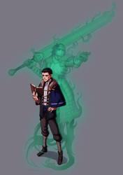 Commission: Half Elf Spiritualist by Furin94
