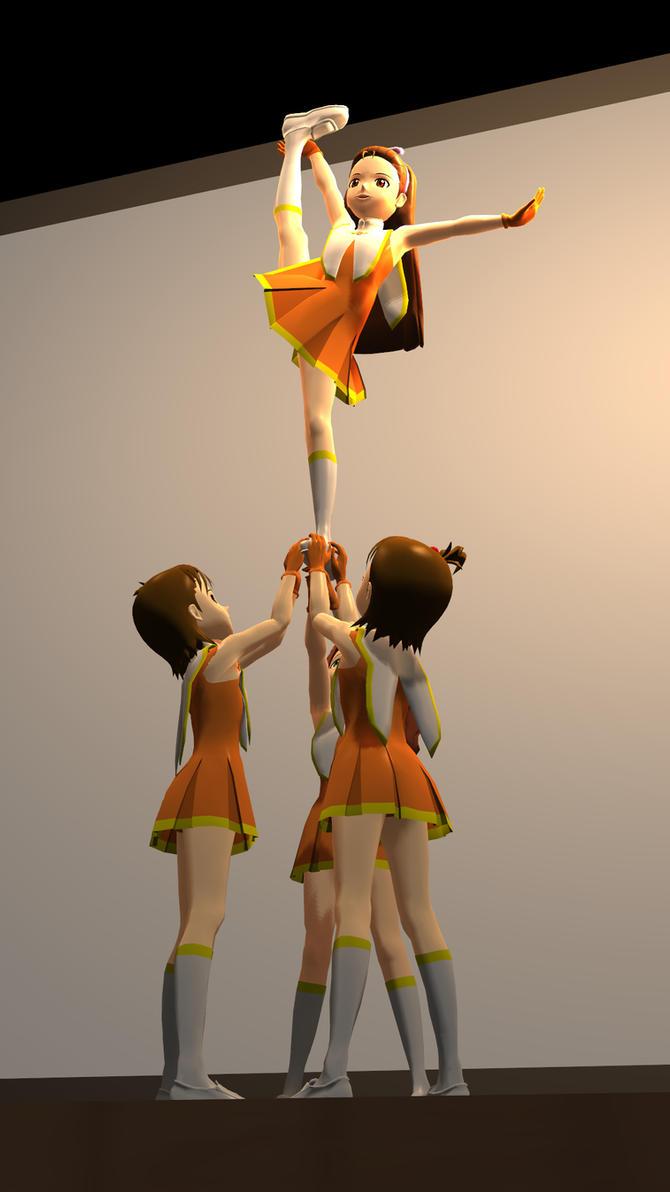Imas cheerleaders by JamieTH
