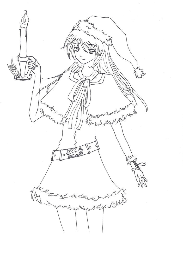 Merry Christmas Anime Drawing Merry Christmas Anime Style by