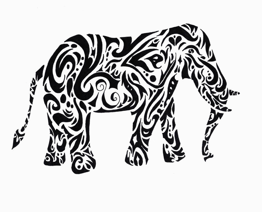 Line Drawing Elephant Stock Photos And Images  123RF