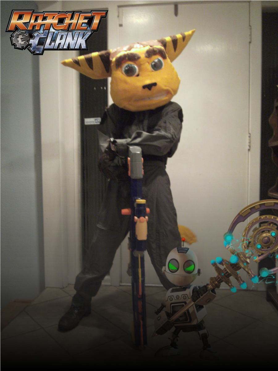 ratchet cosplay with clank by ilokanolombax on deviantart