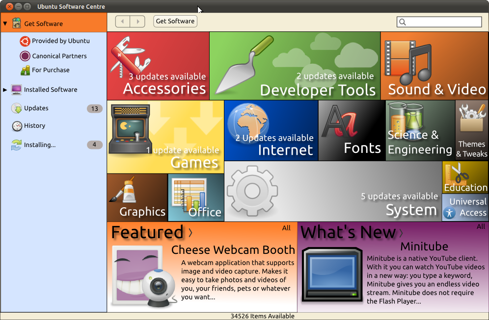 Ubuntu Software Centre 4.0 by DigitallyDestined