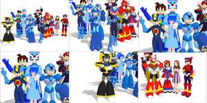 MMD Mega models! =^_^= by knucklesmega