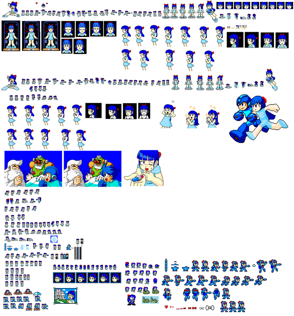 mega man nes sprites of me by knucklesmega on deviantart