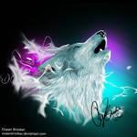 Northern Lights Wolf Spirit