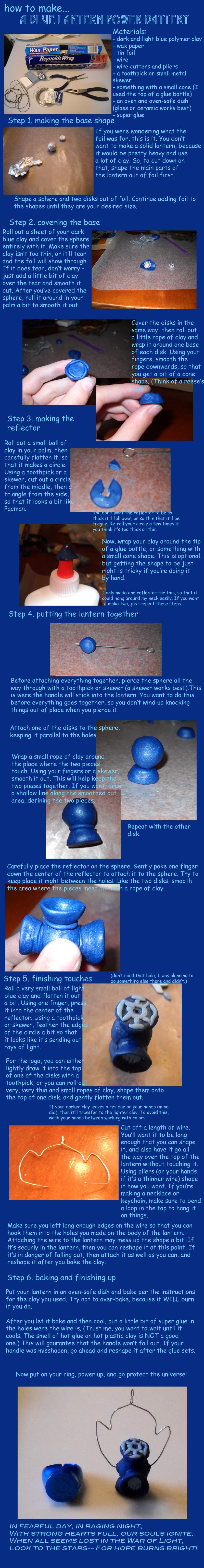 How to make a Blue Lantern by SirIsaac