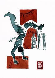 Capoeira Encre 554 by alex-illustrateur