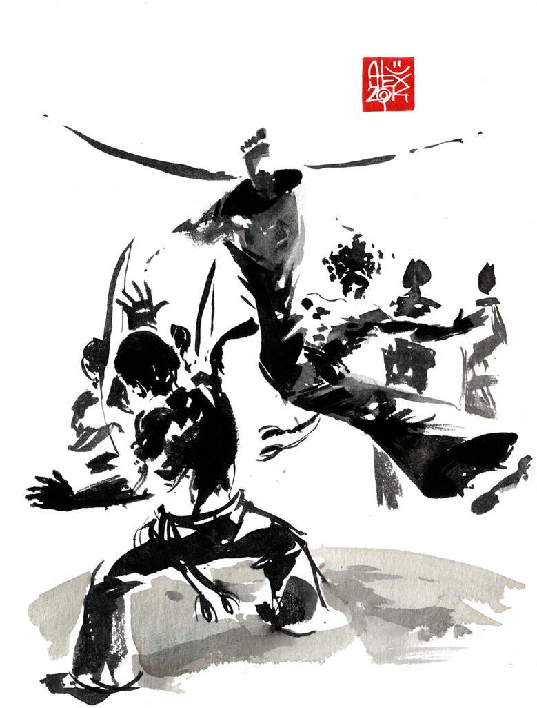 Capoeira illustration by alex-illustrateur on DeviantArt