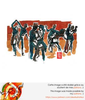 Capoeira illustration 877 Forro