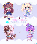 Commission concept - Mini Chibi set 2
