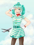 Tricolor Airline Miku