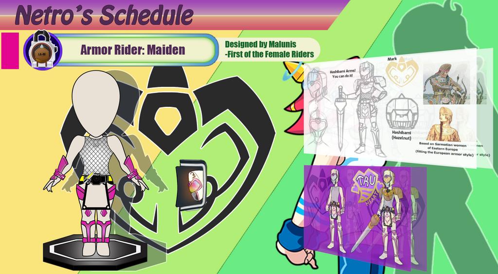 Armor Rider Maiden prototype. by netro32
