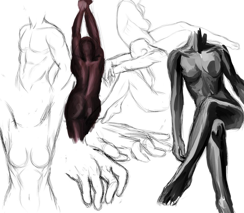 practice poses by PidgeonToe