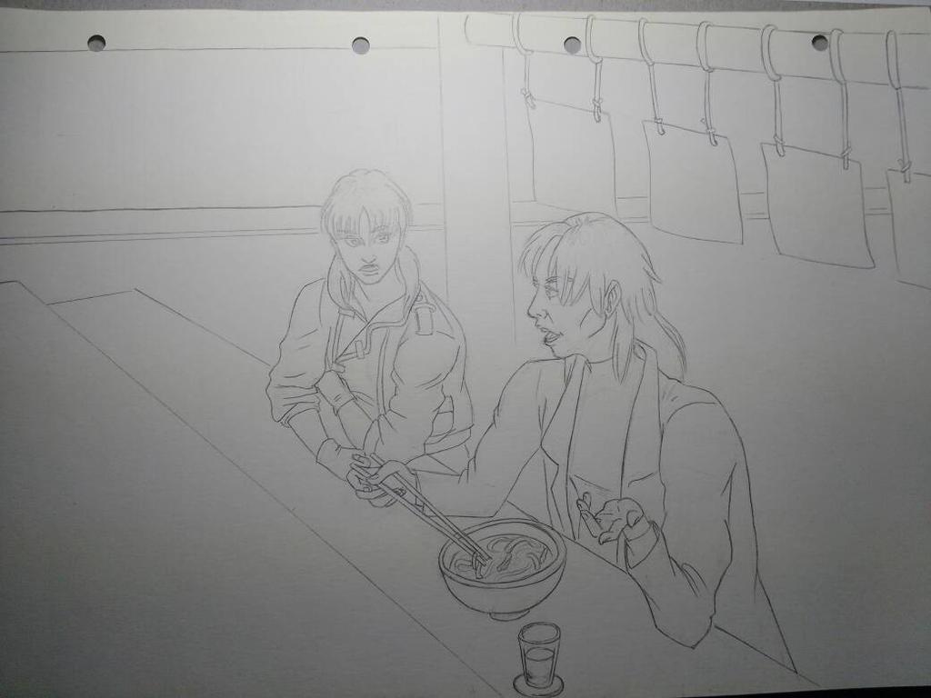 Motoko and Togusa by marie-sama