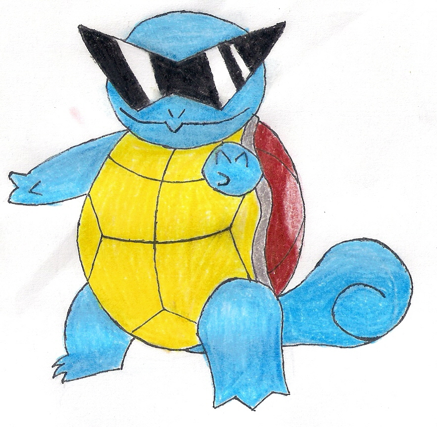 Squirtle With Glasses 44