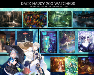 Pack Happy 200 Watchers by KJ-Designer