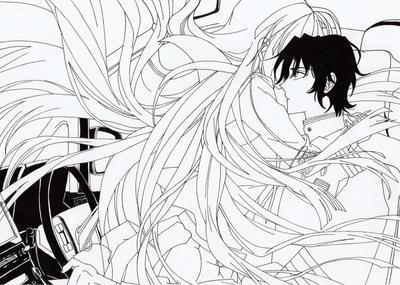 Line Art Anime : Guren and mahiru lineart by jokerpirate on deviantart