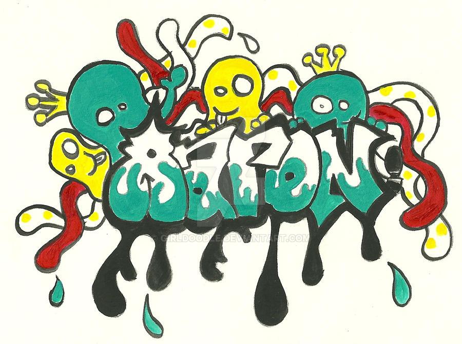 Graffiti Name Aaron By Girldoodle On Deviantart