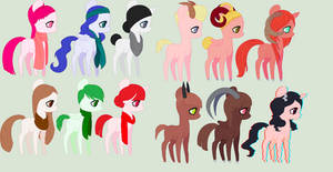 Ponis by Adoptables-Hoe