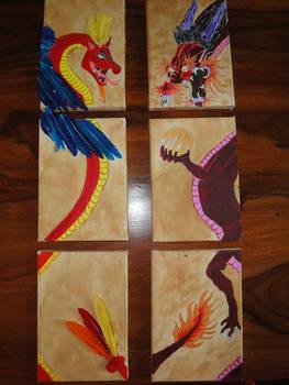 Dragons canvas