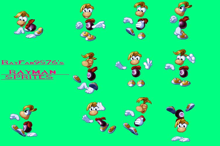 Rayman Sprites 2 by RayFan9876