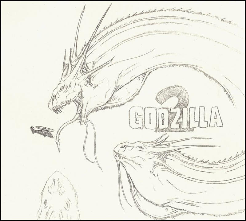 Legendary King Ghidorah Headshot by IsaacBarnett on DeviantArt