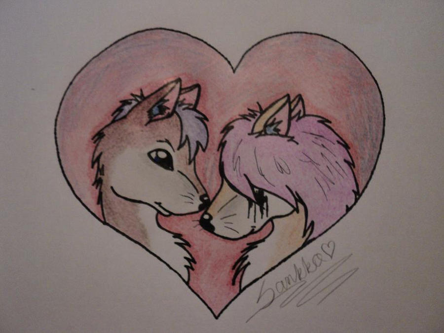Loving anime wolves by Cute Anime Wolf Love