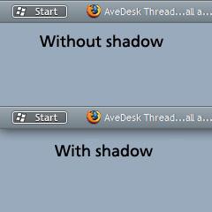 Taskbar Shadow using AveDesk by acedriver